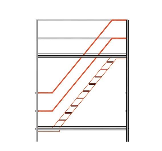 Ladders en trappen steigerwijzer - Trap in een helling ...